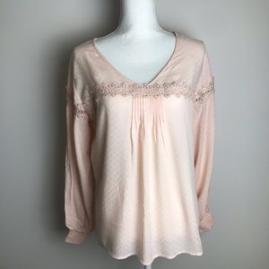 a new day - pink super soft light sweater laced